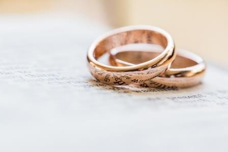 wedding rings text
